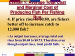 exhibit 1 average total cost and marginal cost of producing fish per fishing run15