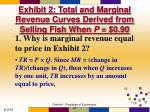 exhibit 2 total and marginal revenue curves derived from selling fish when p 0 90