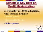 exhibit 3 key data on profit maximization39