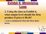 exhibit 6 minimizing loss63