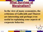 what survives of marginalism