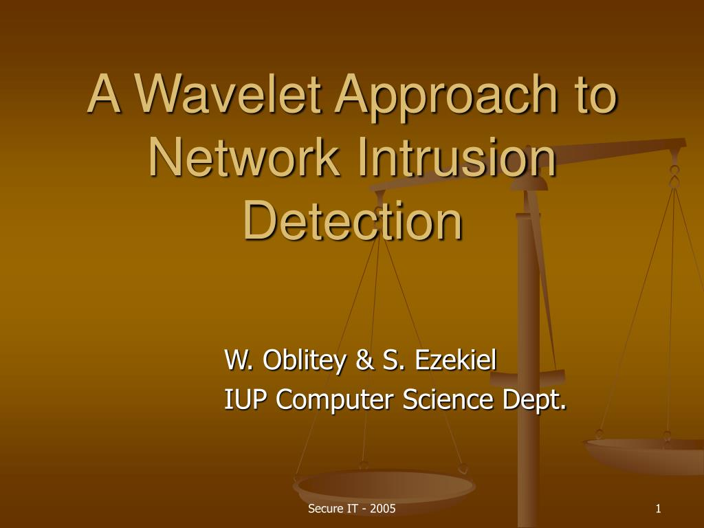 a wavelet approach to network intrusion detection l.