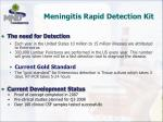 meningitis rapid detection kit
