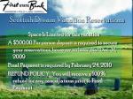 scottish dream vacation reservations