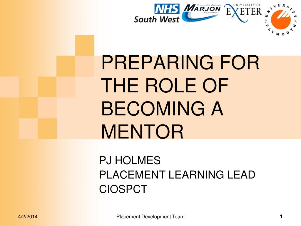 preparing for the role of becoming a mentor l.