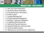 manage traffic user services