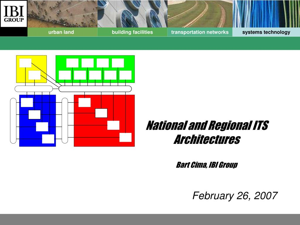 national and regional its architectures bart cima ibi group l.