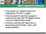 what is a regional its architecture