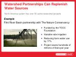 watershed partnerships can replenish water sources