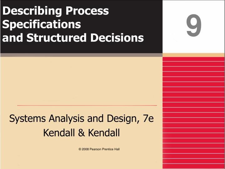 describing process specifications and structured decisions n.