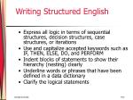 writing structured english
