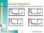 cooling temperature