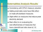 externalities analysis results