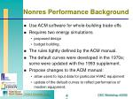 nonres performance background