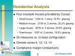 residential analysis