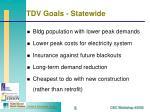 tdv goals statewide