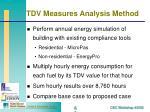 tdv measures analysis method