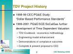 tdv project history