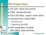 tdv project team