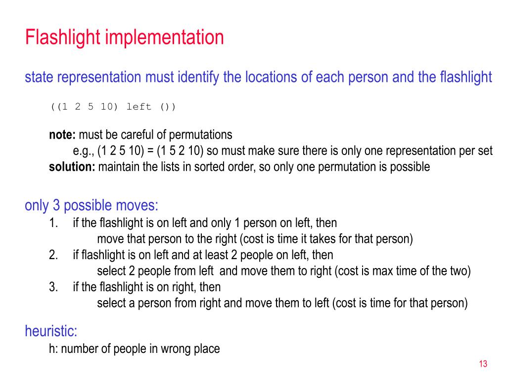 Flashlight implementation