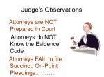 judge s observations