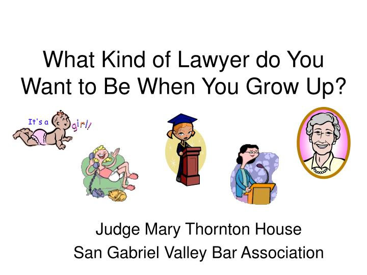 what kind of lawyer do you want to be when you grow up n.