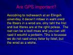 are gps important