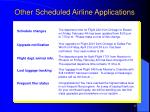 other scheduled airline applications