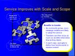 service improves with scale and scope