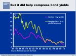 but it did help compress bond yields
