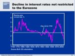 decline in interest rates not restricted to the eurozone