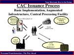cac issuance process basic implementation augmented infrastructure central processing facility
