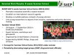 selected work results e waste summer school