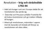 revolution krig och skr ckv lde 1792 94