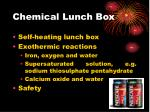 chemical lunch box