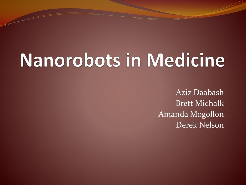 nanorobots in medicine l.