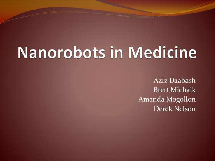 use of nanorobotics in medicine
