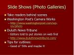 slide shows photo galleries