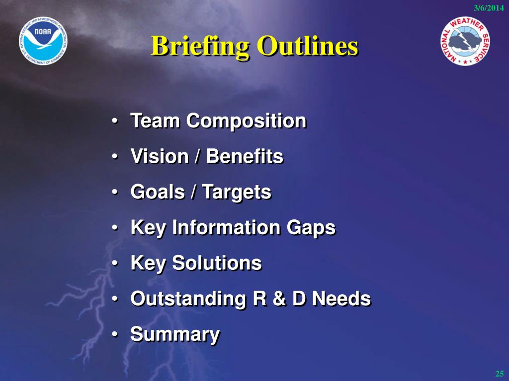 Briefing Outlines