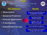 plan advances must be linked to results and worth the cost