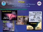vision vastly improved forecasts and warnings in our core service areas