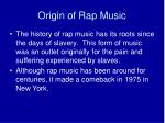 origin of rap music