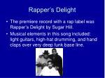 rapper s delight