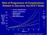 risk of progression of complications related to glycemia the dcct study