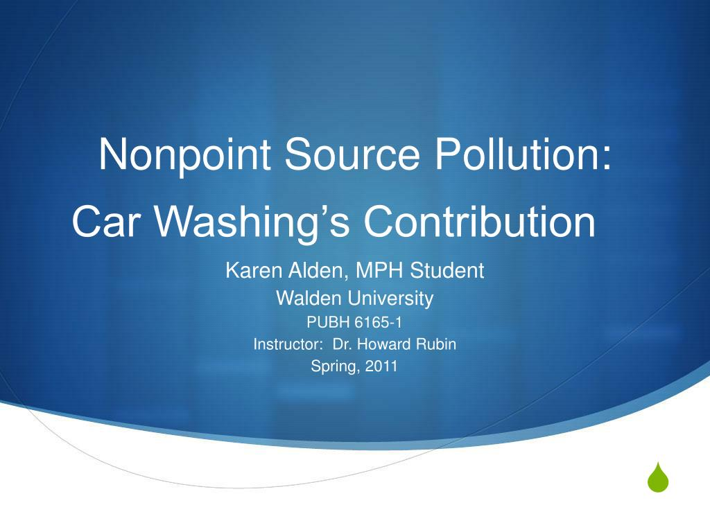 nonpoint source pollution car washing s contribution l.