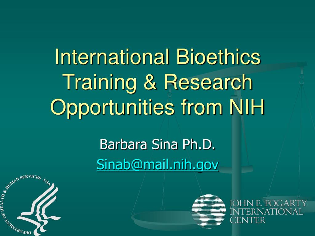 international bioethics training research opportunities from nih l.