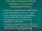 international research ethics education curriculum development award