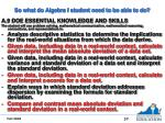 so what do algebra i student need to be able to do