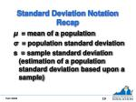 standard deviation notation recap