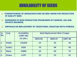 availability of seeds